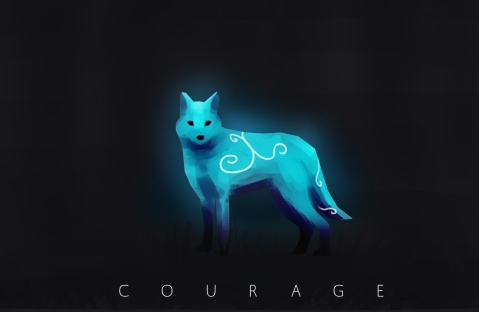 Courage the wolf